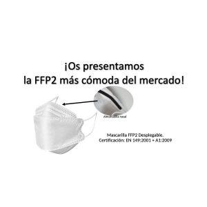 Mascarilla plegable FFP2